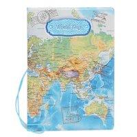 paspoorthoesjes met wereldkaart