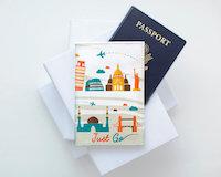 Paspoorthoesje met wereldwonderen